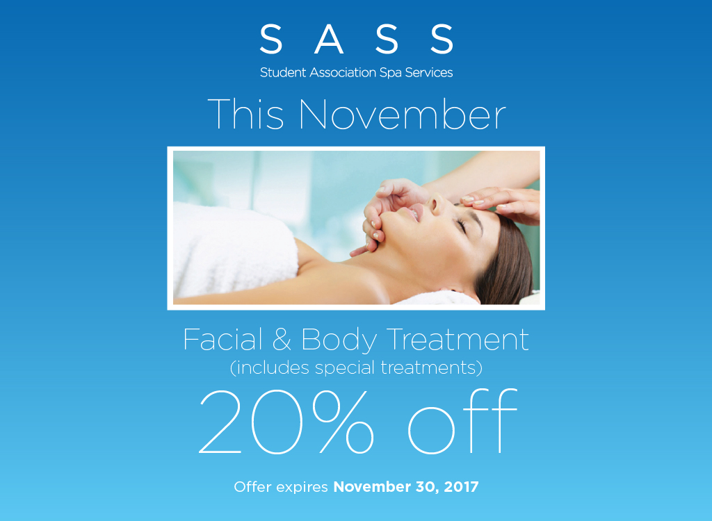 SASS November Specials