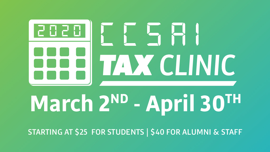Tax clinics available on campus